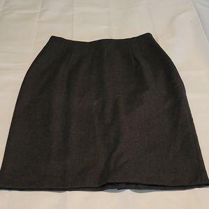 Garey Petites vintage 100% wool Grey skirt size 14